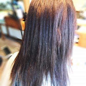 ビビリ毛の状態