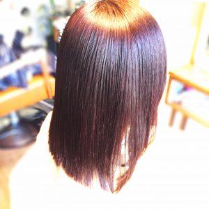 ビビリ毛の修正ストレート