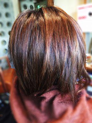 縮毛矯正とカラーカット