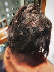 60代 白髪 縮毛矯正 クセ毛
