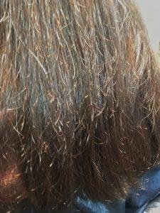 縮毛矯正 失敗 チリチリ ビビリ毛